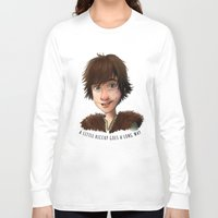 hiccup Long Sleeve T-shirts featuring A little Hiccup goes a long way by Fla'Fla'