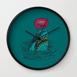 The Zombie Shark Wall Clock