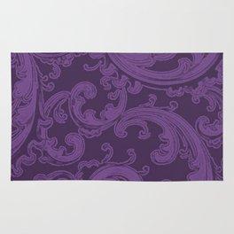 Retro Chic Swirl Royal Lilac Rug
