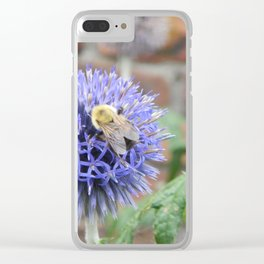 BEElutiful Thistle Clear iPhone Case