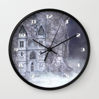 castle Wall Clocks featuring Castle by Simone Gatterwe