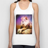 lion king Tank Tops featuring King Lion by SwanniePhotoArt