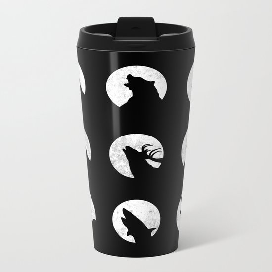 Wolf's Night Off Metal Travel Mug