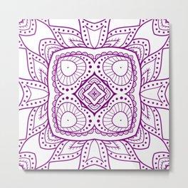 Mindful Mandala Pattern Tile MAPATI 15 Metal Print