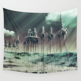 -Caravan Dali- GREEN Wall Tapestry