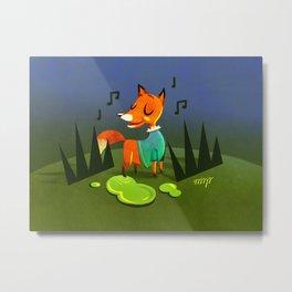 Foxie Metal Print