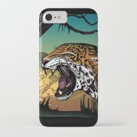jaguar iPhone & iPod Cases featuring Jaguar by Adamzworld