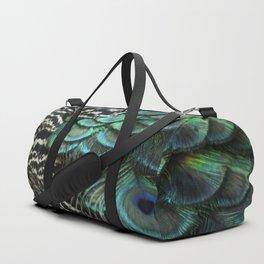Peacock Bird Feathers Plumage Texture 1 Duffle Bag