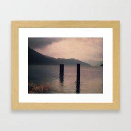 mountains inner peace Framed Art Print