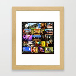 Voyage To The Fantastic World Of Wingsdomain Art And Photography 20150108 with text square Framed Art Print