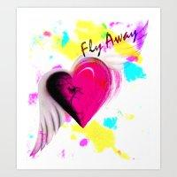 Fly Away Heart Art Print