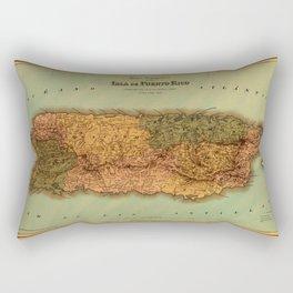 Map Of Puerto Rico 1886 Rectangular Pillow