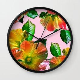 Rosi Red Rose #society6 #decor Wall Clock