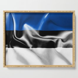 Estonia Flag Serving Tray