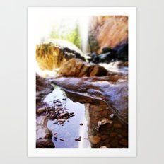Reflection at Tonto Natural Bridge Art Print
