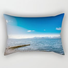 Quiet coast in the lake Rectangular Pillow