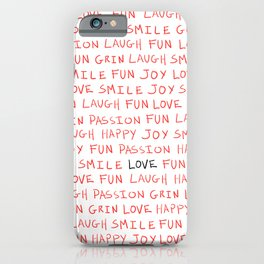Love's Words iPhone Case