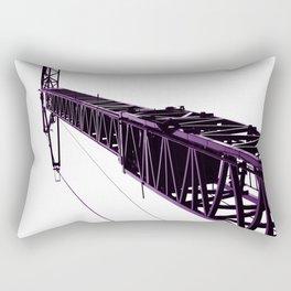 Crane Purple Rectangular Pillow