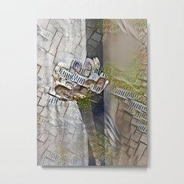 Lampshade Landscape Metal Print