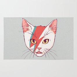 David Bowie Cat Rug