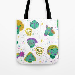 Faces in the night sky. Tote Bag