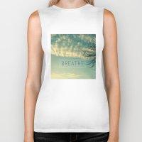 breathe Biker Tanks featuring Breathe by Sandra Arduini