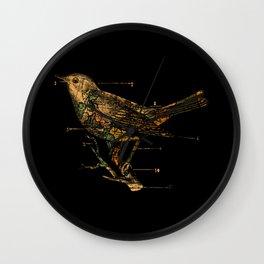 Migration - Vintage Map Wanderlust Bird Wall Clock