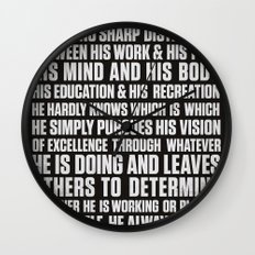 Always Be You-Black Wall Clock