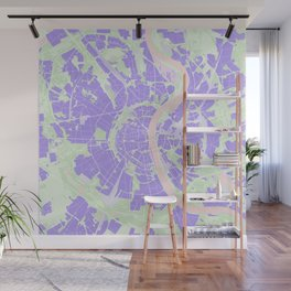 Cologne map violet Wall Mural