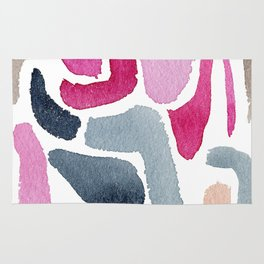 Pink, Purple & Blue Minimal Figure Rug