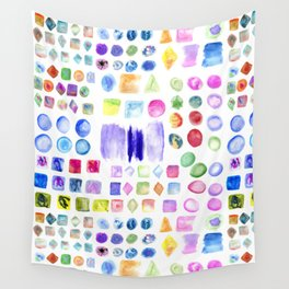 Watercolor splotches art Wall Tapestry