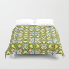 Abstract flower pattern 5a Duvet Cover