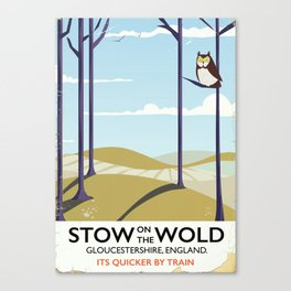 stow on the wold vintage travel poster Canvas Print