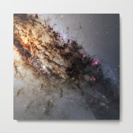 Dust Lanes of Centaurus A Galaxy Deep Field Telescopic Photograph Metal Print