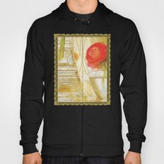 Doré -- Gilded Still Life with Red Ranunculus and Collage Effects Hoody