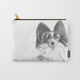 Papillion (Butterfly Dog) Carry-All Pouch