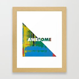 Color Chrome - Awesome graphic Framed Art Print