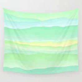 Mint Aqua Rolling Hills Wall Tapestry