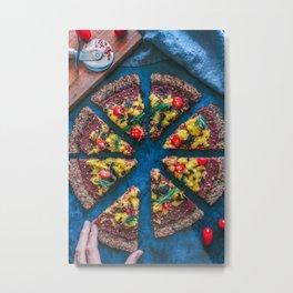 Cauliflower Vegan Pizza Metal Print