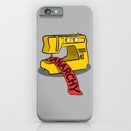 Anarchy Sewing Machine iPhone Case
