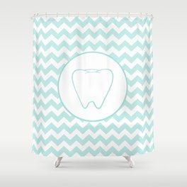Chevron Tooth Shower Curtain