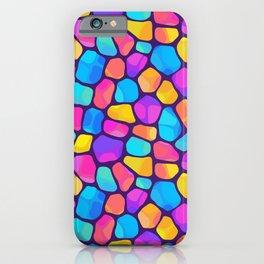 Rainbow Pattern Neck Gator Mosaic Rainbow Nostalgia iPhone Case