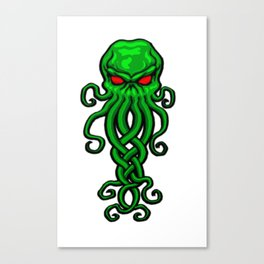 Celtic Cthulhu Canvas Print
