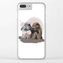 Alfie and Biscuit Clear iPhone Case