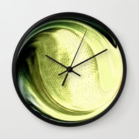 shining Wall Clocks featuring Shining by Rose Etiennette