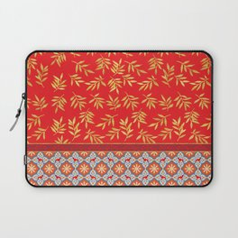 RED WEIMS AND GOLD LEAVES Laptop Sleeve