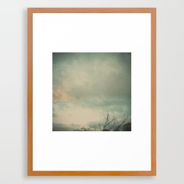 The skies they were ashen and sober Framed Art Print