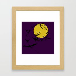 Bat Spiral Framed Art Print