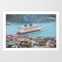 View of our ship Tortola Art Print