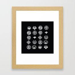 Pug Kamon Framed Art Print